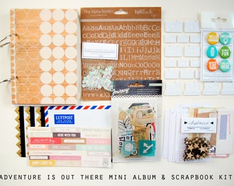 Adventure is out there Mini Album / Journal and Scrapbook Kit