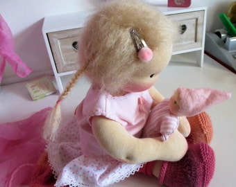 Waldorf inspired doll, Dana, 12 inch