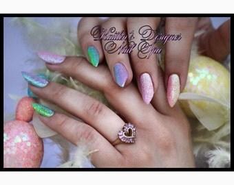 Pastel Ombré Gel Artificial Nail Art
