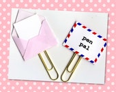 Planner Clip (Sold Individually) - Pen Pal Planner Clip - Gift Tag - Pocket Letter Clip - Tiny Envelope - Snail Mail Paperclip