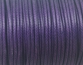 5 YARDS - 2MM Purple Woven Braided Waxed Nylon Cording Trim #20