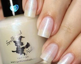 Patronus - custom Harry Potter inspired pearly sheer blue purple shift shimmer glow in the dark nail polish