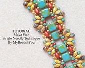 Beading Tutorial Pattern,Beading Instruction,Seed Bead Pattern,Bead Schemi,DIY Jewelry,Beadwork Tutorial,SuperDuo Bead Patterns, MyBeads4You