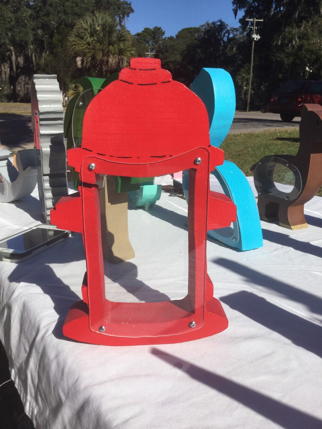 handmade wooden fire hydrant coin bank. Black Bedroom Furniture Sets. Home Design Ideas