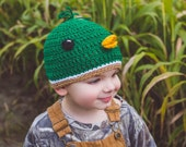 Mallard Duck Hat, Baby Duck Hat, Baby Duck Hunter, Baby Shower Gift, Take Home Outfit, Baby Hunter, Baby Farm Outfit, Baby Farmer Costume,