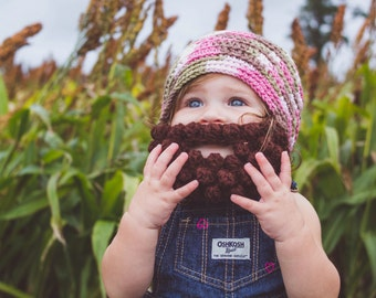 Pink Camo Baby Beard Hat, Baby Girl Camo, Country Girl Camo, Pink Camouflage, Beard Beanie, Hunter Baby, Baby Lumberjack Hat, Lumberjack Hat