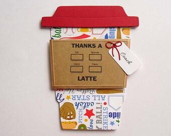 Thanks a Latte Baseball COACH Gift Card Holder