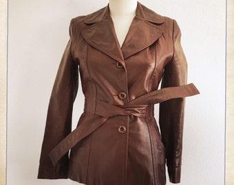 FOXY Women's Vintage GASSY JACK 70s Belted Jacket - Size Small