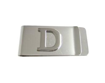 Monogram Letter D Money Clip