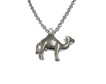 Silver Toned Camel Pendant Necklace