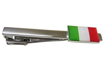 Italian Flag Square Tie Clips