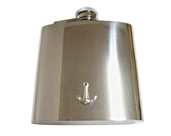 Smooth Anchor 6 oz. Stainless Steel Flask
