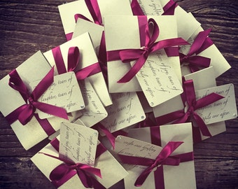 Tears of Joy tissue packets for Wedding ceremony Gold and Burgundy