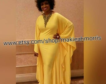Yellow Custom Gown dress