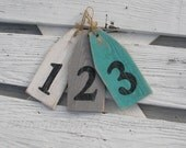 Wood House Numbers Sign Nautical Beach Cottage Decor Wedding Decor Table Setting Home Address Numbers Customizable