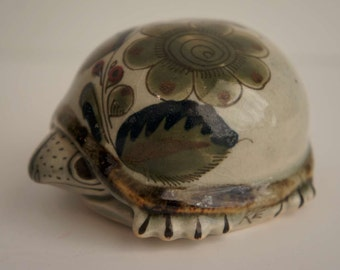 Vintage Ken Edwards Pottery Turtle Mexico Pottery