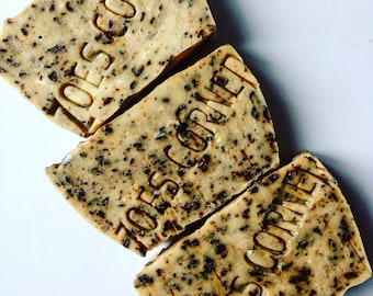 Soap - Coffee Scrub -100 % Natural Handmade Cold Process Soap Savon From Scratch- SLS and Paraben Free