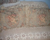 Lovely Vintage Cabbage Rose Pillow shams, Eclectic, Shabby Chic, Victorian, French, French Country