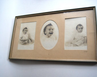 Vintage Portraits, Framed, Nursery Decor, Instant Ancestor