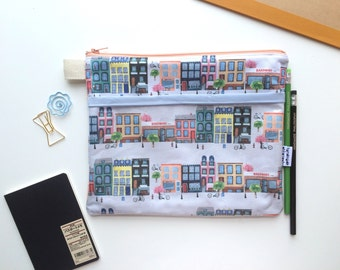 Fairmount Avenue Divided Pouch Medium (handmade philosophy's pattern)
