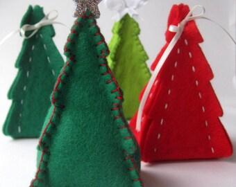 PDF PATTERN: Christmas Tree Gift Box & Ornament Sewing Tutorial - felt DIY Decoration - Holiday accessory