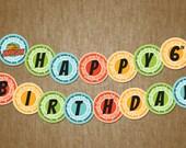 Wild Kratts Birthday Banner - Boy Party bunting sash - DIY Self Printable File Only