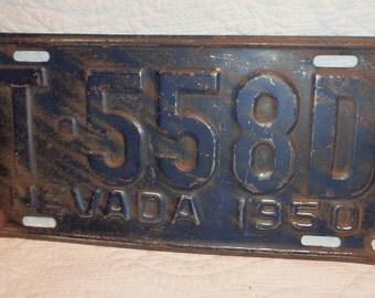 Nevada License Plate 1950