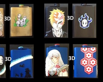 Customized Anime Flasks
