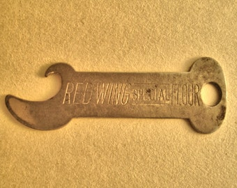 Vintage bottle opener 1930s 40s Red Wing Flour Co. Red Wing Minn.
