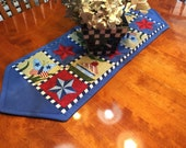 Vintage Fourth of July Patriotic American Flag table runner for holiday, home decor by MarlenesAttic