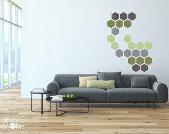 Honeycomb Pattern Wall Decals - Vinyl Stickers Art