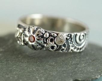 Mermaid Treasure, Beach Find - Sterling Silver Ring, Unique Pirate Heirloom