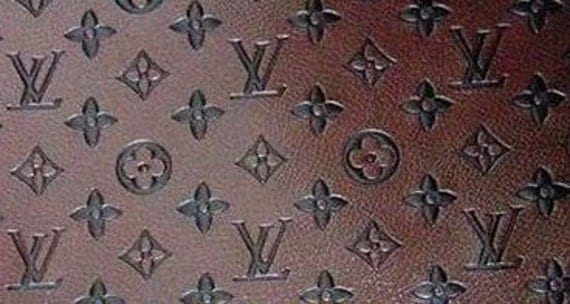 Louis Vuitton Synthetic Leather Fabric By Orchideenoire On Etsy