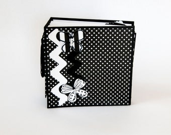 Black and White Butterfly Mini Album