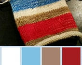 Saturated Sock Selfstriping  4 color Sock Monkey