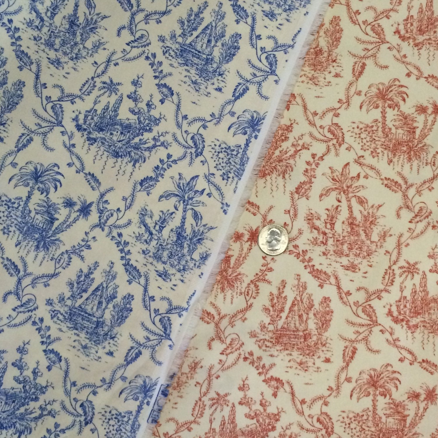 French toile cotton fabric p kaufmann fabrics red french for French toile fabric