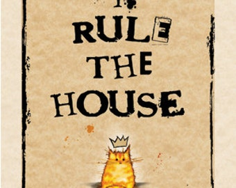 Cat card - I rule the house GINGER