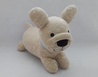 French Bulldog Puppy Plush Toy, Frenchie Stuffed Animal, Bulldog Sock Toy, Sock Monkey