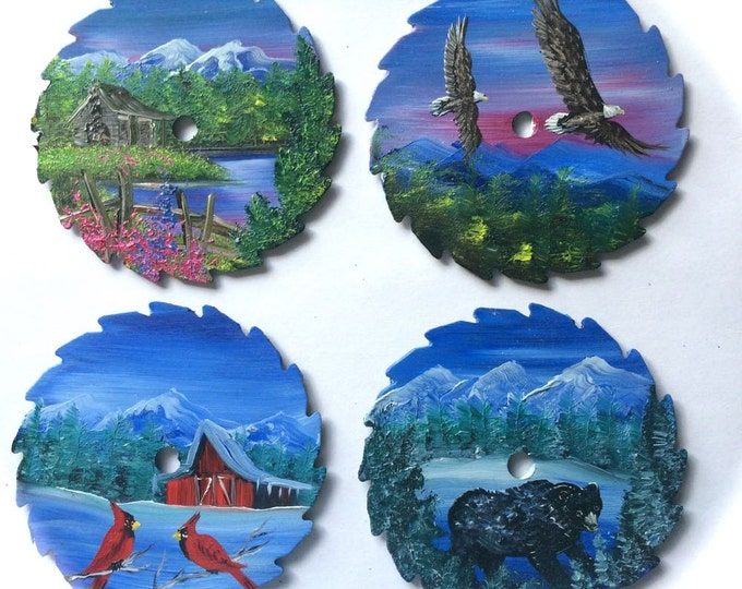 Miniature Saw Round Saw Magnet Mountain Scenery All 4 for One Price