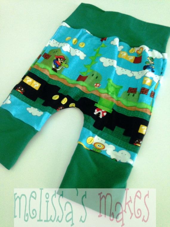 Mario Luigi Shorts 6M 3Y grow with me shorts diaper shorts