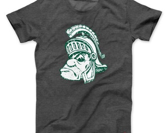 Vintage Gruff Sparty Michigan State Retro T-shirt - FREE SHIPPING