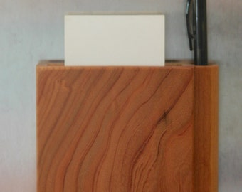 Magnetic Wooden Grocery List Holder Handmade out of Cherry- Free Shpping to USA