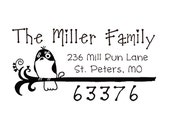 custom address stamp,SELF INKING Return address stamp,personalized stamp,cute wedding address stamp,bird,branch.S40