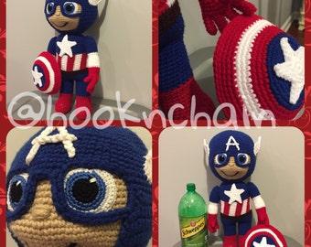 superhero crochet doll