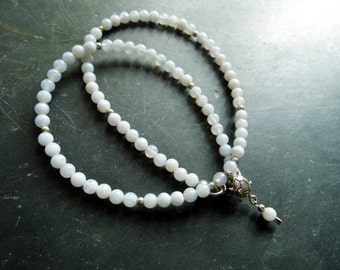 Necklace, chalcedony sterling silver turtle, light blue, jewelry, women