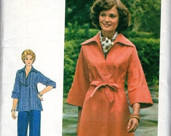 "1980s Women's Tunic, Dress and Pants Pattern - Size 20 1/2, Bust 43"" - Butterick 4011"