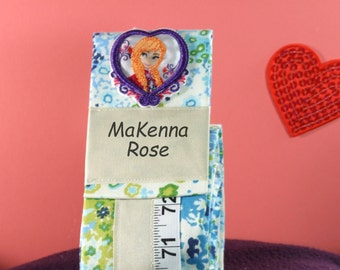 GIRL'S KEEPSAKE GIFT - Valentine - Growth Chart - Blue Room Decor
