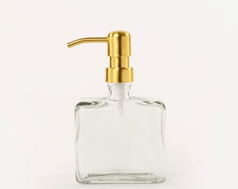 Boxy Brass Soap Dispenser