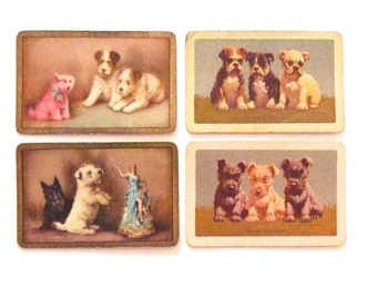 Vintage Swap Cards Dog Art Swap Cards Puppy Art Instant Collection