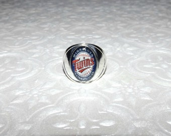 Minnesota Twins Inspired Marble Ring